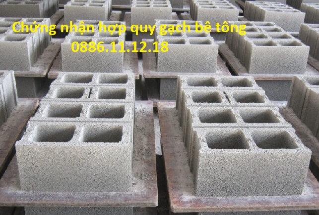 Chứng nhận hợp quy gạch bê tông và công bố hợp quy gạch bê tông là hoạt động bắt buộc